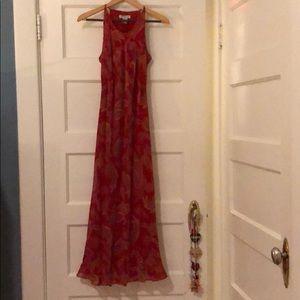 Sleeveless Silk paisley Dress
